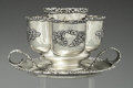 Silver Smalls:Cigar Lamps, AN AMERICAN SILVER AND GILT SMOKING STAND, Maker unidentified,circa 1890. Marks: (effaced maker's mark), STERLING, 2203...