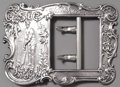 Silver & Vertu:Smalls & Jewelry, AN AMERICAN SILVER CRICKET TROPHY BUCKLE, Whiting Manufacturing Company, New York, New York, circa 1888. Marks: WHITING MF...