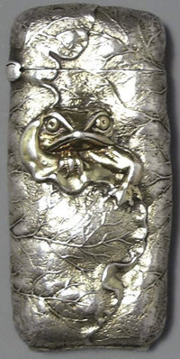 AN AMERICAN SILVER MATCH SAFE, George W. Shiebler & Co., New York, New York, circa 1890 Marks: (winged S), STE...