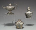 Silver Smalls:Cigar Lamps, A GROUP OF THREE AMERICAN SILVER CIGAR LAMPS, Various makers, circa1900. Marks: (lion-anchor-G), STERLING, B595. 2-3/4 ...(Total: 3 Items)