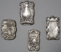 Silver Smalls:Match Safes, A GROUP OF FOUR AMERICAN SILVER MATCH SAFES, one by F.S. Gilbert,North Attleboro, Massachusetts, circa 1890. Marks to matc...(Total: 4 Items)