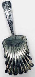 Silver & Vertu:Smalls & Jewelry, AN AMERICAN SILVER SALEM WITCH SOUVENIR NUT SCOOP, Wm. B. Durgin Co., Concord, New Hampshire, circa 1900. Marks: D, D. LOW...