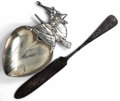 Silver & Vertu:Smalls & Jewelry, TWO AMERICAN SILVER SALEM WITCH SOUVENIR ITEMS, Various makers, circa 1900. Marks: D. LOW, STERLING. 5-3/4 inches long (... (Total: 2 Items)