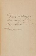 Books:Science Fiction & Fantasy, Edgar Rice Burroughs. Tarzan and the Lion Man. Burroughs,1934. First edition. Inscribed and signed by ERB. ...