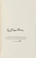 Books:Fiction, Carl Sandburg. Remembrance Rock. Harcourt, Brace, 1948.Signed, limited edition. From a private collection... (Total: 2Items)