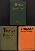 Books:Science Fiction & Fantasy, Edgar Rice Burroughs. Group of Three First Edition Tarzan Books.... (Total: 3 Items)