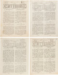 Books:Literature 1900-up, [John Updike]. A Collection of Twenty-Five Issues of ShillingtonHigh School's Newspaper, Chatterbox. Shillington Hi...