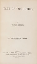 Books:Literature Pre-1900, Charles Dickens. A Tale of Two Cities. London: Chapman andHall, 1859. First edition in book form, first issue (with...