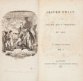 Books:Literature Pre-1900, Charles Dickens. Oliver Twist; Or, the Parish Boy'sProgress. London: Richard Bentley, 1838. First edition, mix...