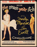"""Movie Posters:Comedy, The Seven Year Itch (20th Century Fox, 1955). Trimmed Window Card (14"""" X 17.5""""). Comedy.. ..."""