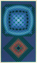 Prints:Contemporary, VICTOR VASARELY (French, 1908-1997). Untitled, circa 1980.Color silkscreen. 38-1/2 x 23 inches (97.8 x 58.4 cm). Ed. 57...