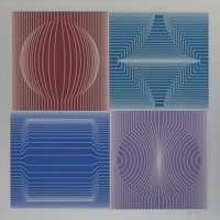 VICTOR VASARELY (French, 1908-1997) Tokyo (from The Great Cities Suite), 1981 Color silkscreen 28