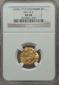 Colombia, Colombia: Charles II gold cob 2 Escudos ND (1694-1713),...