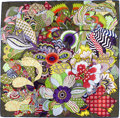 "Luxury Accessories:Accessories, Hermes 90cm Green & Purple ""Fleurs d'Indiennes"" by Aline HonoréSilk Scarf. ..."