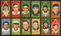 """Baseball Cards:Lots, 1911 T205 Gold Border Tobacco Collection (12) - All AlmostExclusive """"Hassan"""" Group. ..."""