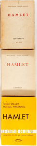 Books:Literature 1900-up, Henry Miller and Michael Fraenkel. INSCRIBED. Group of Three Editions of Hamlet. Includes two editions, first and se... (Total: 3 Items)