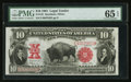 Large Size:Legal Tender Notes, Fr. 122 $10 1901 Legal Tender PMG Gem Uncirculated 65 EPQ.. ...