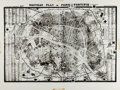 Books:Maps & Atlases, [Maps, Magazine Proofs]. Reprint of a Map Depicting Paris Ca. 1847. Tissue guard overlay has routes taped on. Measures 21 x ...
