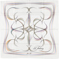 "Luxury Accessories:Accessories, Hermes 90cm White, Black & Multicolored ""24 Fauborg,"" by BenoitPierre Emory Silk Scarf. ..."