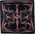 "Luxury Accessories:Accessories, Hermes 90cm Black, White & Multicolored ""24 Faubourg,"" byBenoit Pierre Emory Silk Scarf. ..."