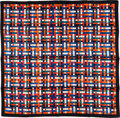 "Luxury Accessories:Accessories, Hermes 90cm Black, Green, Red & Blue ""Bolduc au Carre,"" by CatyLatham Silk Scarf. ..."