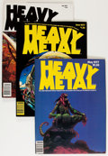 Magazines:Science-Fiction, Heavy Metal Near V1#2-V4#4 Complete Range Group (HM Communications, 1977-80) Condition: Average VF.... (Total: 39 Comic Books)