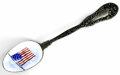 Silver Souvenir Spoons:Patriotic, AN AMERICAN SILVER AND ENAMEL PATRIOTIC SOUVENIR SPOON, Dominick& Haff, New York, New York, circa 1900. Marks: (rectangle-c...