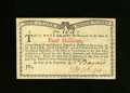 Colonial Notes:New York, New York January 6, 1776 (Water Works) 4s Choice New. Embossing isstrong on this well preserved note signed by N. Bayard an...