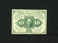 Fractional Currency:First Issue, Fr. 1242 10c First Issue Very Fine. The hardest fold on this note is the lateral center fold....