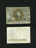 Fractional Currency:Second Issue, Fr. 1283SP 25c Narrow Margin Face and Back Specimens Second Issue Choice New. The paper surfaces are excellent as this pair ... (Total: 2 notes)