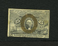 """Fractional Currency:Second Issue, Fr. 1284 25c Second Issue Choice About New. A single light fold is found on this scarcer """"18-63"""" variety...."""