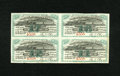 Miscellaneous:Other, Boston, Hartford & Erie Rail Road Company - Block of Four $35Bond Coupons. Extremely Fine....