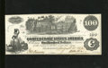 Confederate Notes:1862 Issues, T39 $100 1862. Folds are light and evenly dispersed on this C-note.Very Fine....