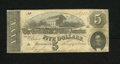 Confederate Notes:1864 Issues, T69 $5 1864. The edges are sound on this Fine example....