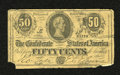 Confederate Notes:1864 Issues, Facsimile T72 50 Cents 1864 Advertising Note. This facsimile note advertises Munger's Laundry in Chicago. The lower left-han...