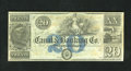 Obsoletes By State:Louisiana, New-Orleans, LA- Canal & Banking Co. $20 18__. Plate letter B is on this well preserved remainder. Choice Crisp Uncirculat...