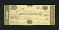 Obsoletes By State:Maryland, Baltimore, MD- Bank of Baltimore $2 Mar. 4, 1842. This is a counterfeit we have not handled before. A few pinholes are notic...