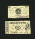 Obsoletes By State:New Hampshire, Brookline, NH- Townsend Bank 3¢ July 4, 1864. This scrip carries a portrait of the cashier for this bank. VF. Nashua, ... (Total: 2 notes)