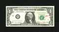 """Error Notes:Ink Smears, Fr. 1907-H $1 1969D Federal Reserve Note. About Uncirculated. Inksmearing is noticed in """"OF AMERICA."""" An inspector's red cr..."""