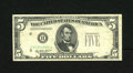 Error Notes:Obstruction Errors, Fr. 1950-B $5 1928 Federal Reserve Note. Fine. A large obstructionprevented the right-hand serial number, series designatio...