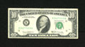 Error Notes:Miscellaneous Errors, Fr. 2020-K $10 1969B Federal Reserve Note. Fine. This note carries a cutting error that is best viewed from the back. A coup...