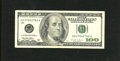 Error Notes:Miscellaneous Errors, Fr. 2175-D $100 1996 Federal Reserve Note. Very Fine. The sheet was fed into the press in an incorrect orientation, resultin...