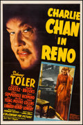 "Movie Posters:Mystery, Charlie Chan in Reno (20th Century Fox, 1939). One Sheet (27"" X 41""). Mystery.. ..."
