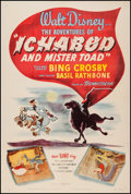 "Movie Posters:Animation, The Adventures of Ichabod and Mr. Toad (RKO, 1949). One Sheet (27""X 41""). Animation.. ..."