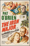 "Movie Posters:Sports, The Iron Major (RKO, 1943). One Sheet (27"" X 41""). Sports.. ..."