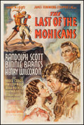 "Movie Posters:Adventure, The Last of the Mohicans (United Artists, 1936). One Sheet (27"" X 41""). Adventure.. ..."