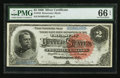 Large Size:Silver Certificates, Fr. 242 $2 1886 Silver Certificate PMG Gem Uncirculated 66 EPQ.. ...