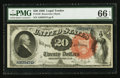 Large Size:Legal Tender Notes, Fr. 136 $20 1880 Legal Tender PMG Gem Uncirculated 66 EPQ.. ...