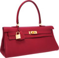 Luxury Accessories:Bags, Hermes 42cm Rubis Togo Leather Shoulder Kelly Bag with Gold Hardware. ...