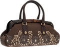 Luxury Accessories:Bags, Gucci Tom Ford Brown Bamboo, Lizard & Canvas Doctor Bag. ...